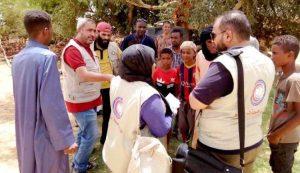 مسح طبي لمراكز إيواء النازحين في غات