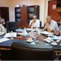 اجتماع مع وزير الصحة
